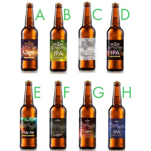 Spiked Beer Label Mock-up