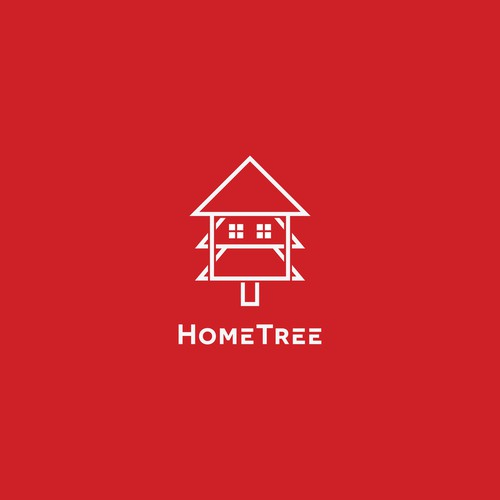 "Logo concept for ""HomeTree"""