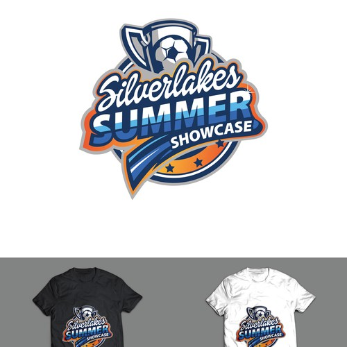 Soccer Tournament logo and t-shirt design