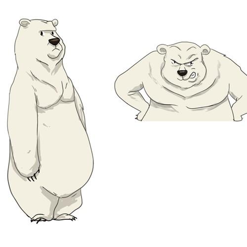 Polar Bear cartoon character.