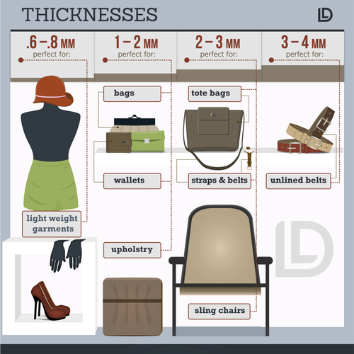 Infographic for a unique retail leather skins business looking to educate their customers