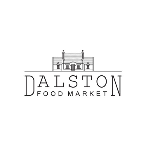 Logo for a premium food market in London