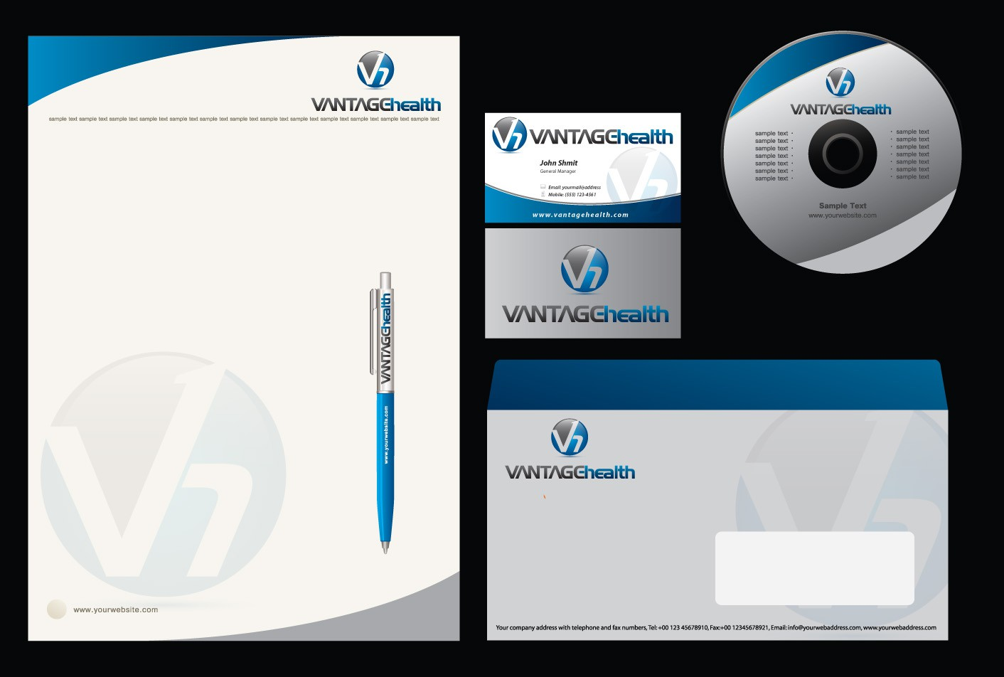 Vantage Health needs a new logo and business card