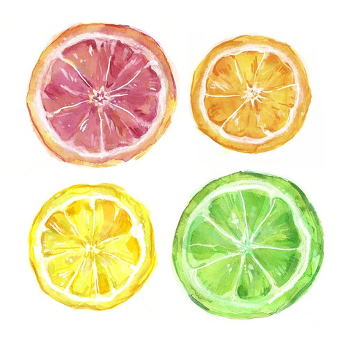 Fun & Bright Citrus Slice Art