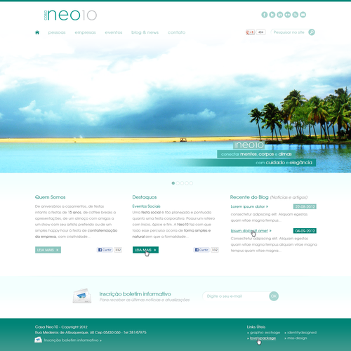 New website design wanted for casa neo10