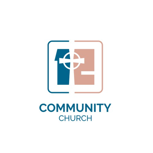 Logo for Community Church based on 12 Disciples of Jesus