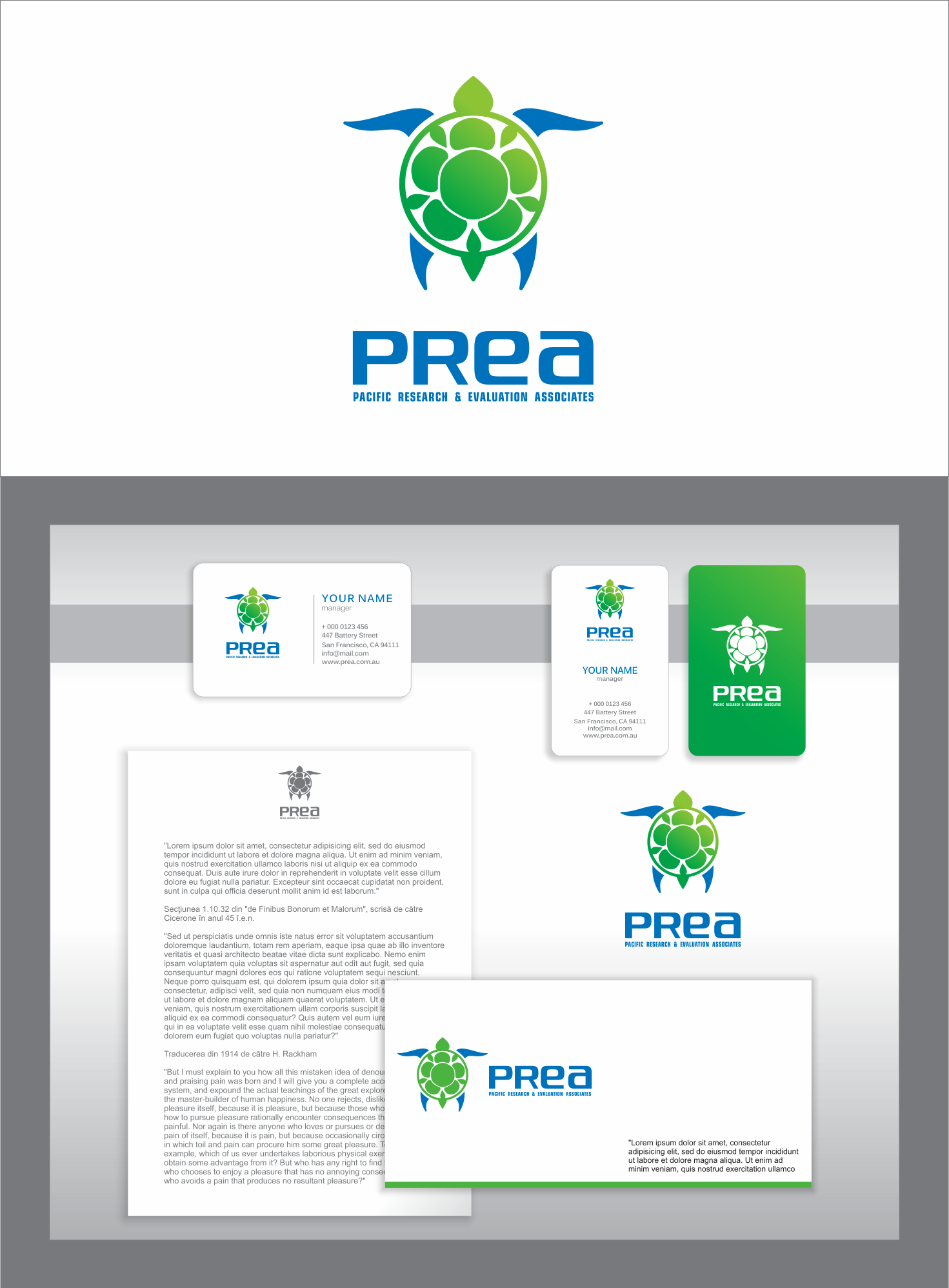 Create a crisp logo for Pacific Research and Evaluation Associates (PREA)