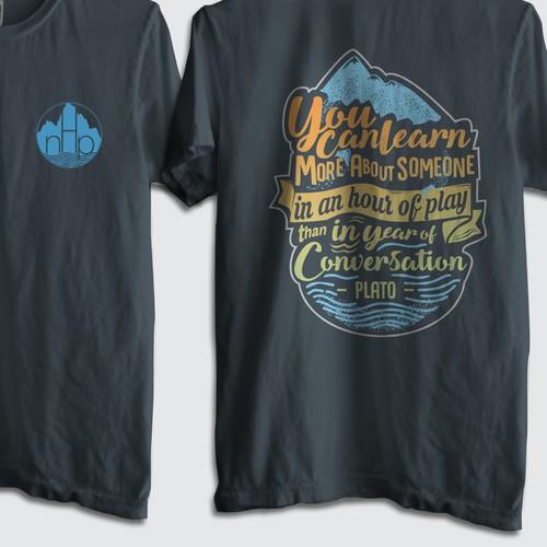 Emblem t shirt design