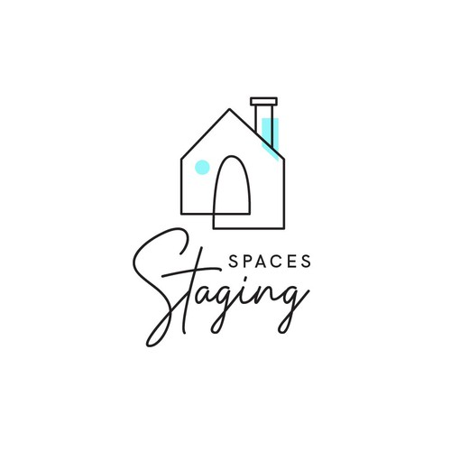elegant eye catching logo for home design and staging