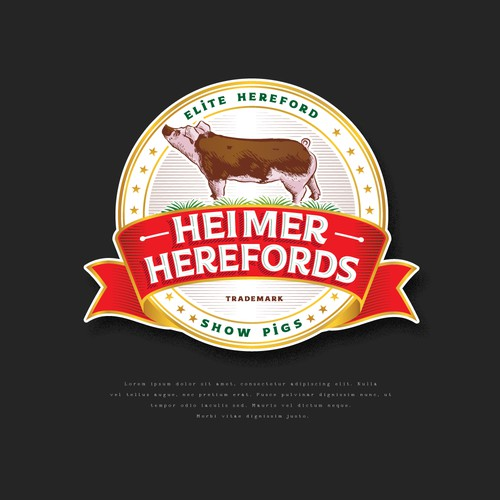 Heimer Herefords Show Pigs
