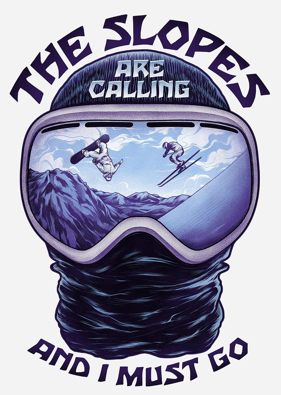 The Slopes Are Calling .... Ski Shirt