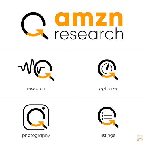 Logo design for consulting firm that specializes in optimizing Amazon product listings.