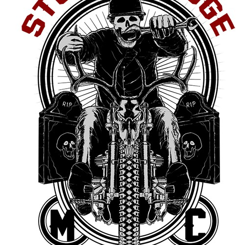 create a T-shirt design for a New York Civil Service Motorcycle Club