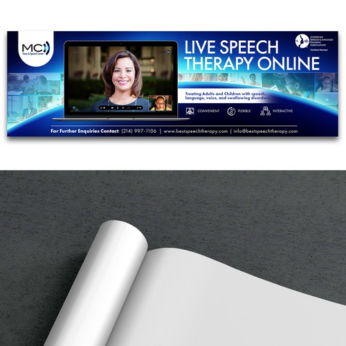 Print Ad for Live Speech Therapy Online