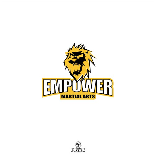 masculine logo for EMPOWER martial arts