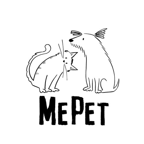 Dog and Cat Pet logo