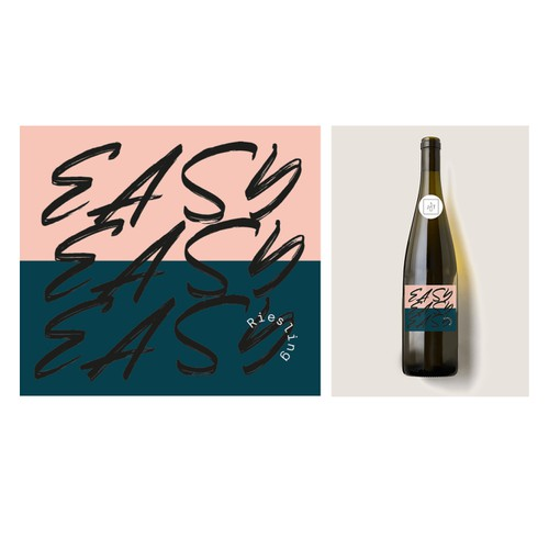 Bold wine label design for German Wine collective