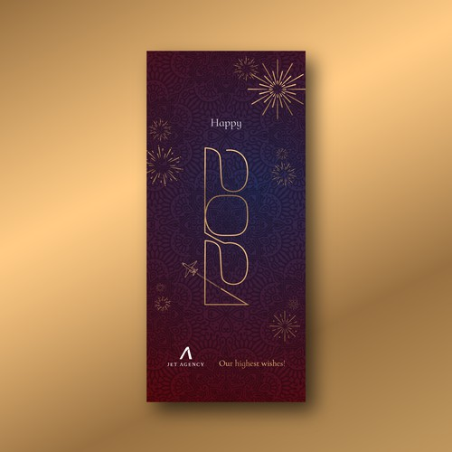 NEW YEAR DESIGN FOR A PRIVATE JET COMPANY | JET AGENCY