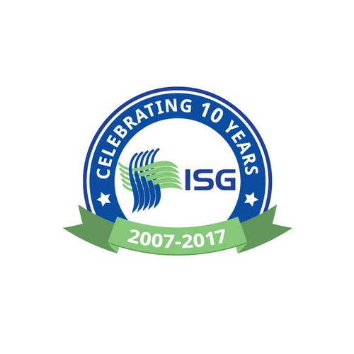 ISG 10 year anniversary badge
