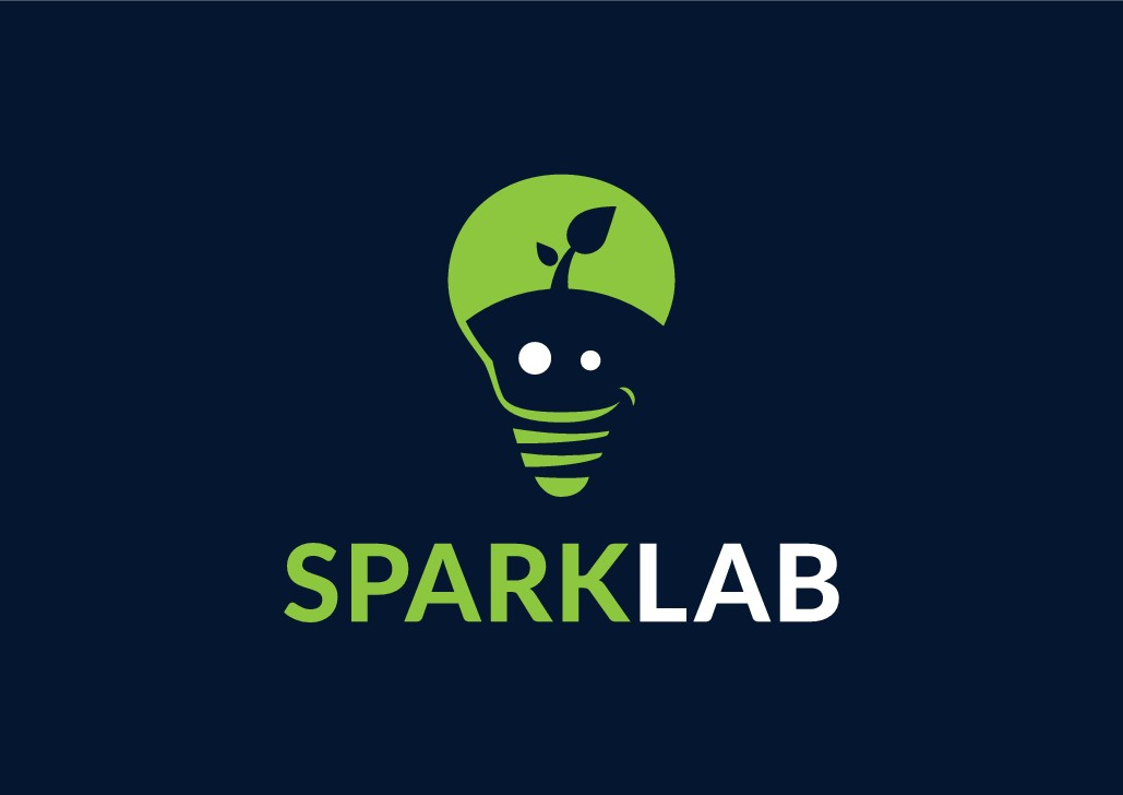 Design a youthful yet simple logo for Spark Lab, a software automation company.