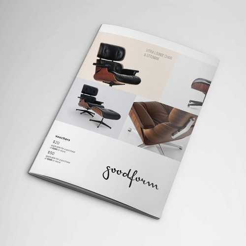 Catalog with minimalist style