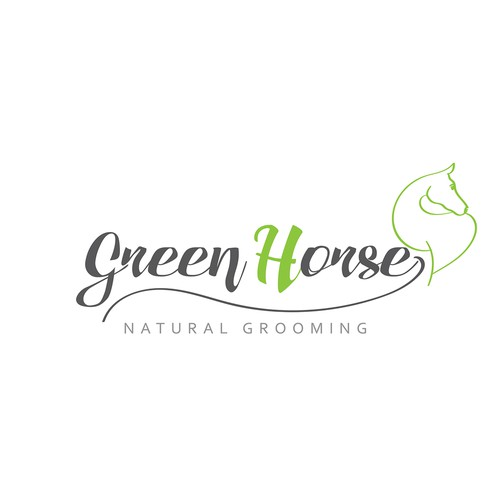 Concept logo for horse grooming Company