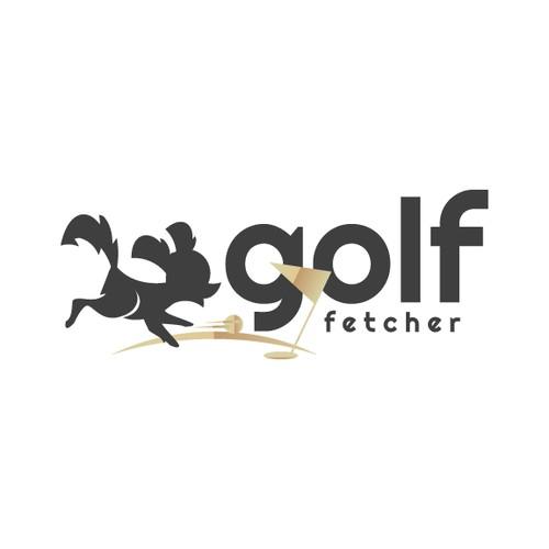 Fun Golf Dog Logo