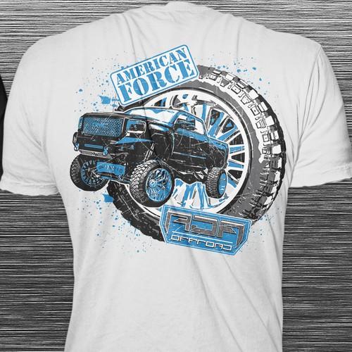 T-shirt Concept for a custom truck