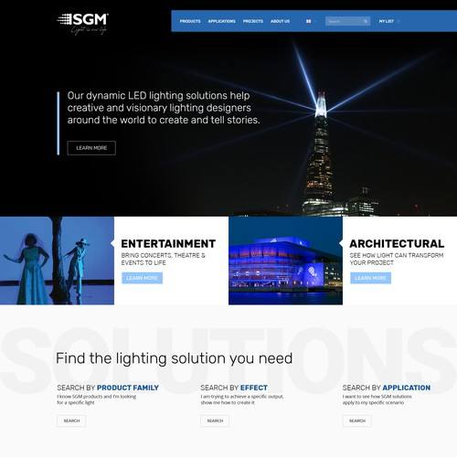 Nordic style webdesign - lighting company
