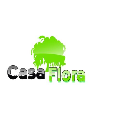 "Logo-Design/Font design for the brand of beautiful planter pots ""CasaFlora"""