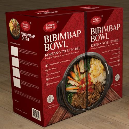 Packaging design for Fortune Avenue Bibimbap Bowl