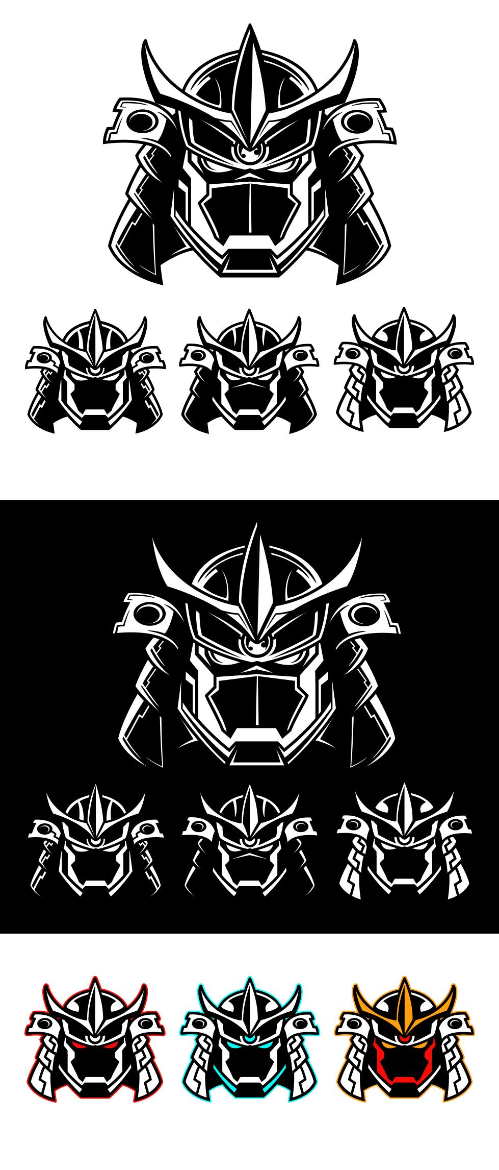 MECHA-MILITARY-ROBOTO SAMURAI HELMET & MASK logo