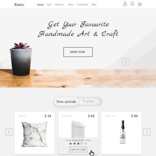minimal art and craft page