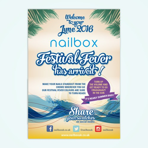 A6 Flyer for a fresh summer promotion