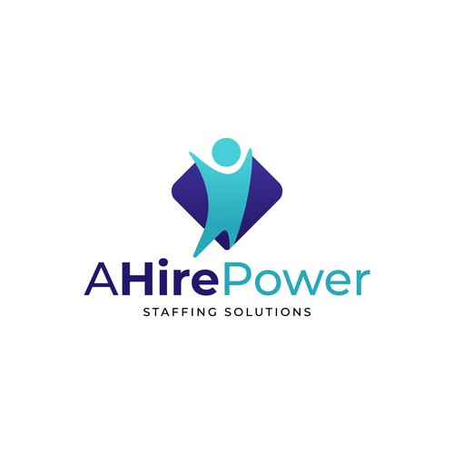 Clean concept logo for A Hire Power