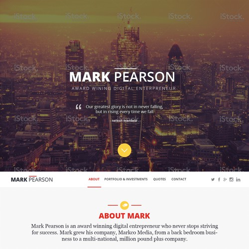 Personal Website Design for MarkPearson.com