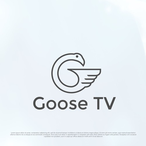 Clean and iconic logo for Goose TV