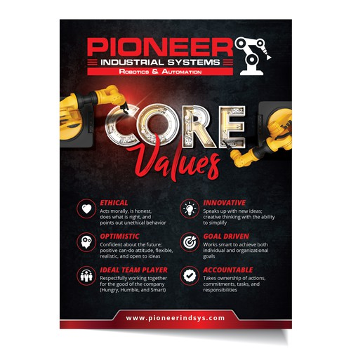 Core value for Pioneer Industrial Systems