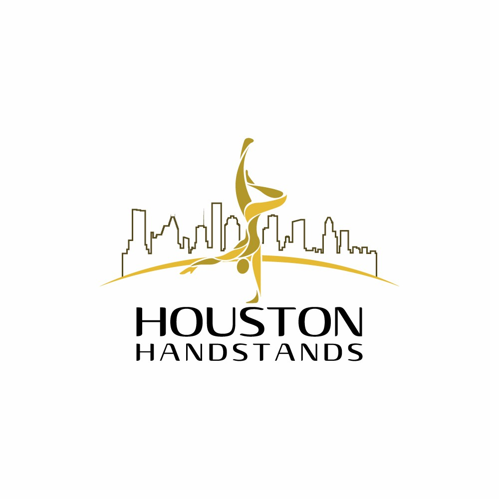 Fun and playful logo for Houston Handstands!