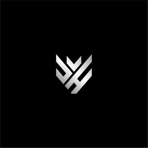 Initial letter JH logo