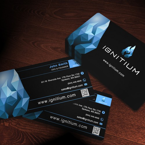 Create an ultramodern business card for a stylish business - Ignitium!