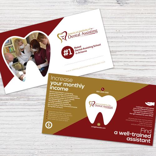 Promotional postcard for dental institute