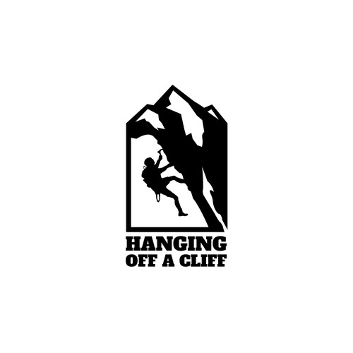 """Logo concept for """"Hanging Off A Cliff"""""""