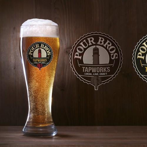 Logo for a craft beer bar