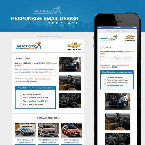 Motor City Arabia Email Template
