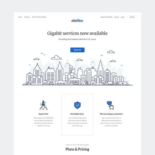 EliteFiber webdesign