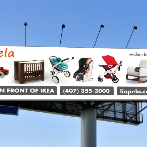 signage for Liapela Modern Baby