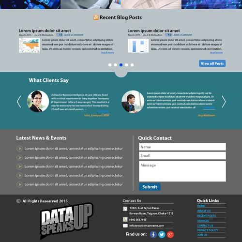 Data Service Website Design