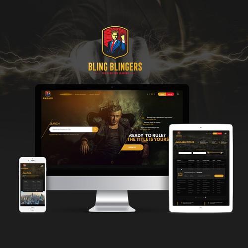Website & UI/UX for new online game