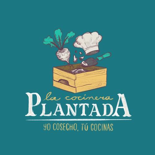 Sketchy Plant Based Restaurant Logo